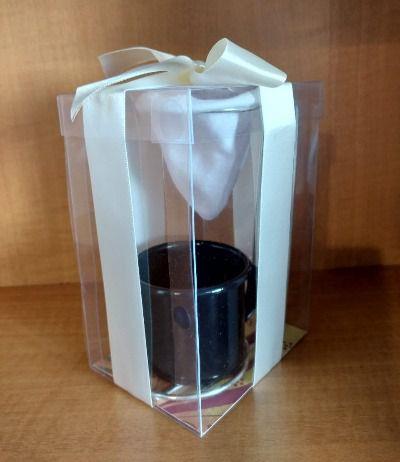 Mini Coador Com Caneca de Ágata Para Presente - Azul