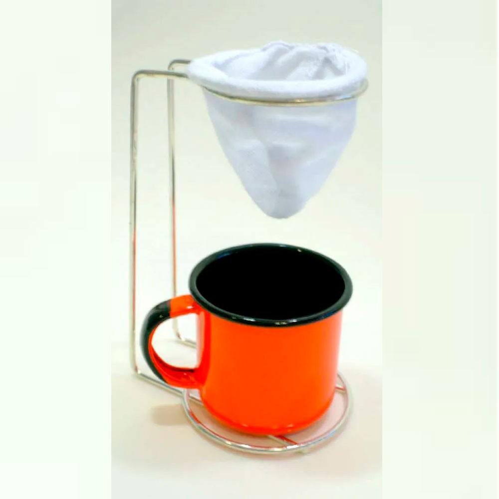 Mini Coador de Café de Pano Com Caneca de Ágata