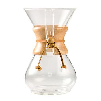 Passador de Café Chemex Com Alça de Madeira