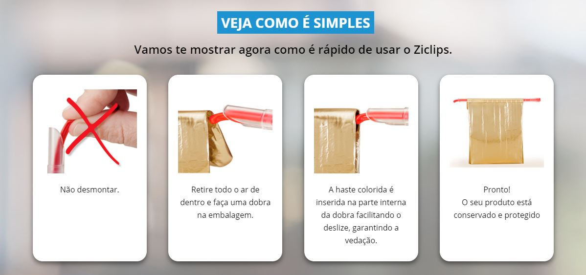 Ziclips Kit 4 Unidades
