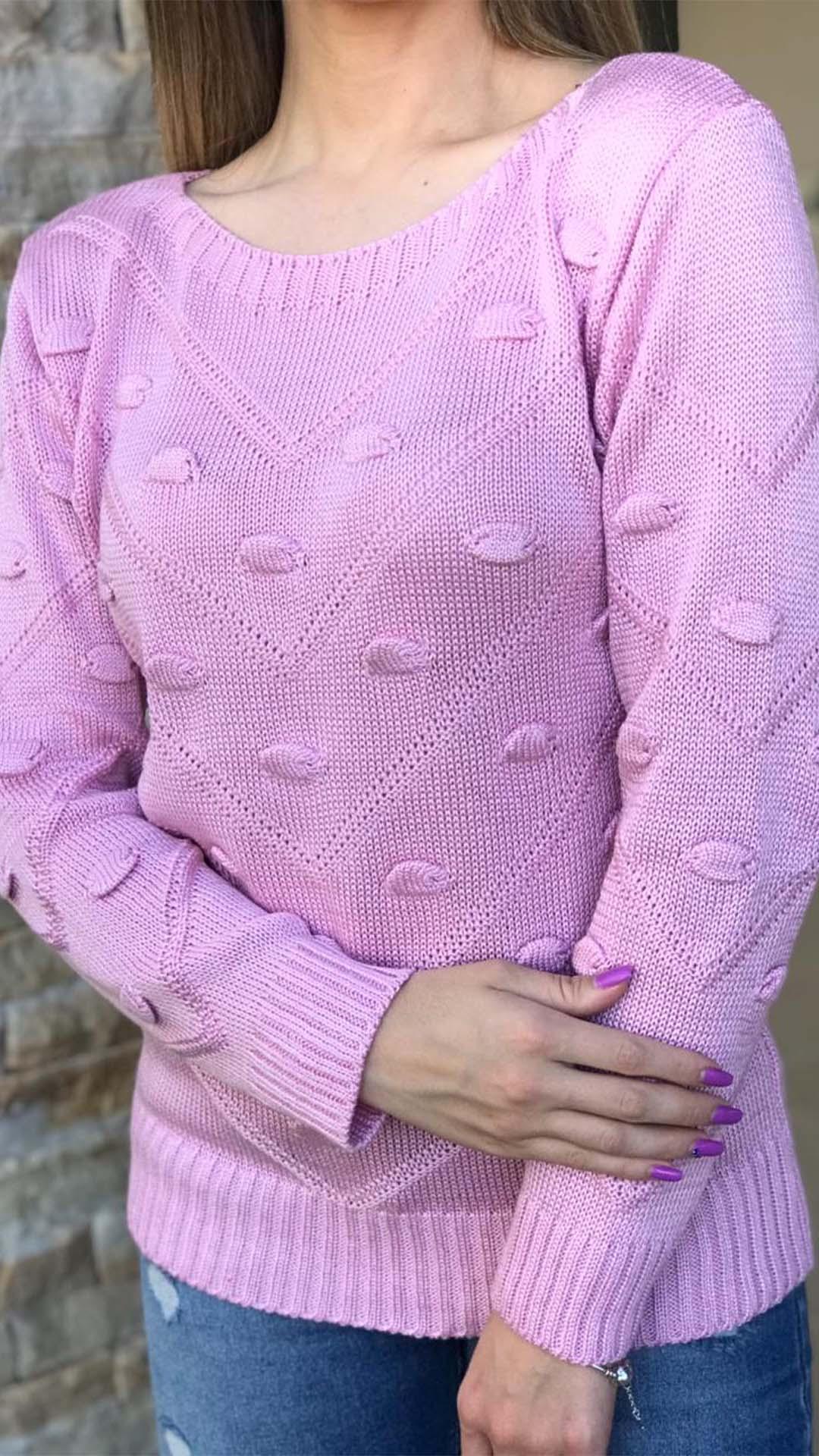 Blusa de Tricô Ponto Pipoca