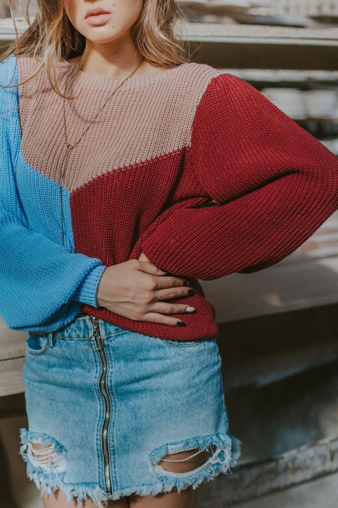 Blusa de Tricot moda Instagram 3 cores