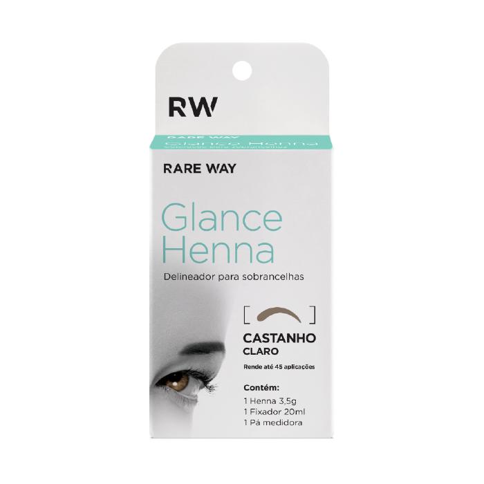 Henna Para Sobrancelhas Glance (Castanho Claro) - Rare Way