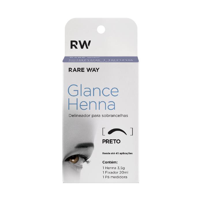 Henna Para Sobrancelhas Glance (Preto) - Rare Way
