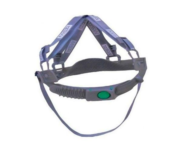 Capacete MSA V-guard com jugular e push key branco