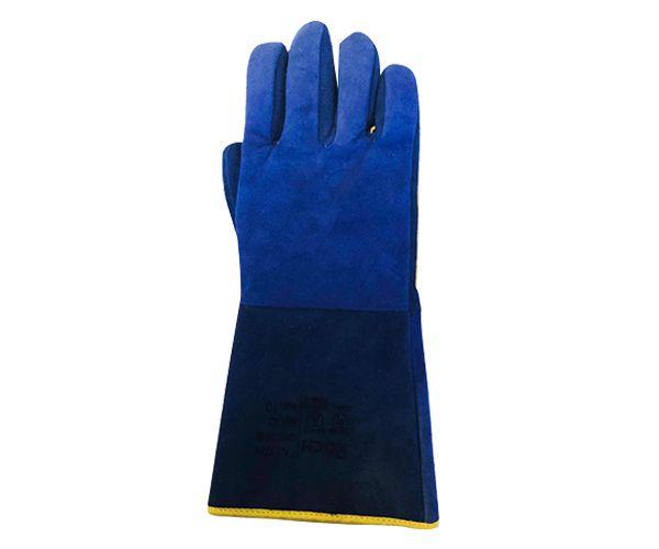 Luva soldador azul para alta temperatura