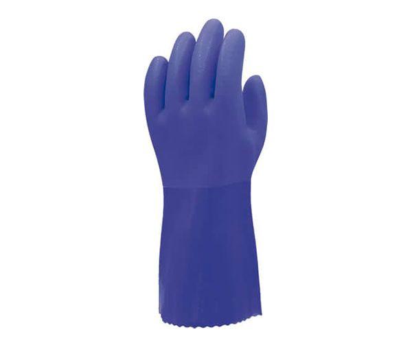 Luva Super PVC curta 26cm azul
