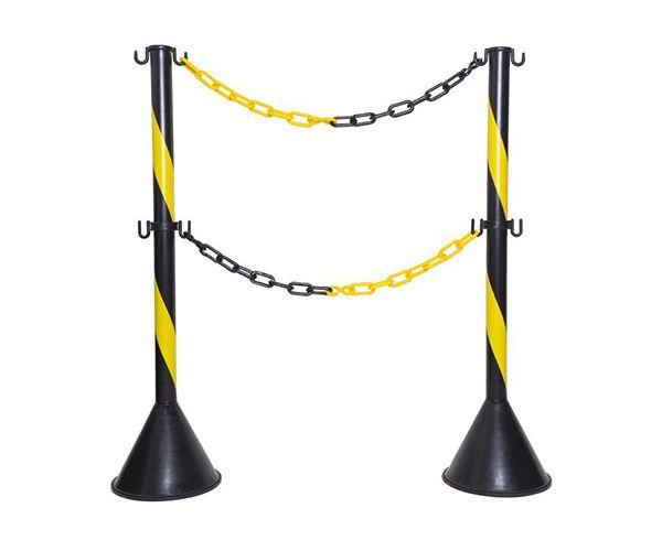 Pedestal de sinalização preto 95cmx22cm