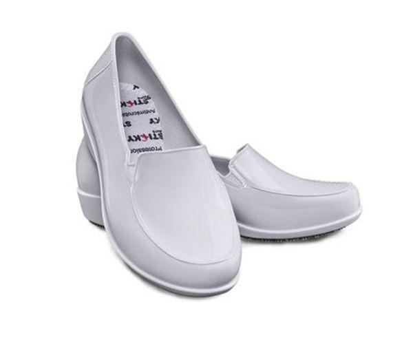 Sapato Social Woman social feminino antiderrapante branco