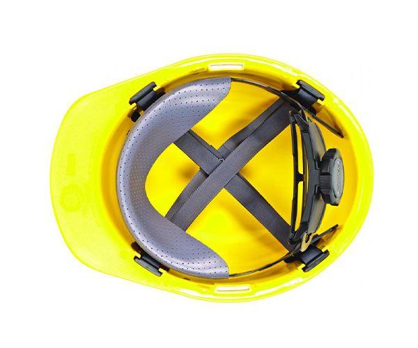 Suspensão têxtil para capacete MSA V-guard com catraca e jugular