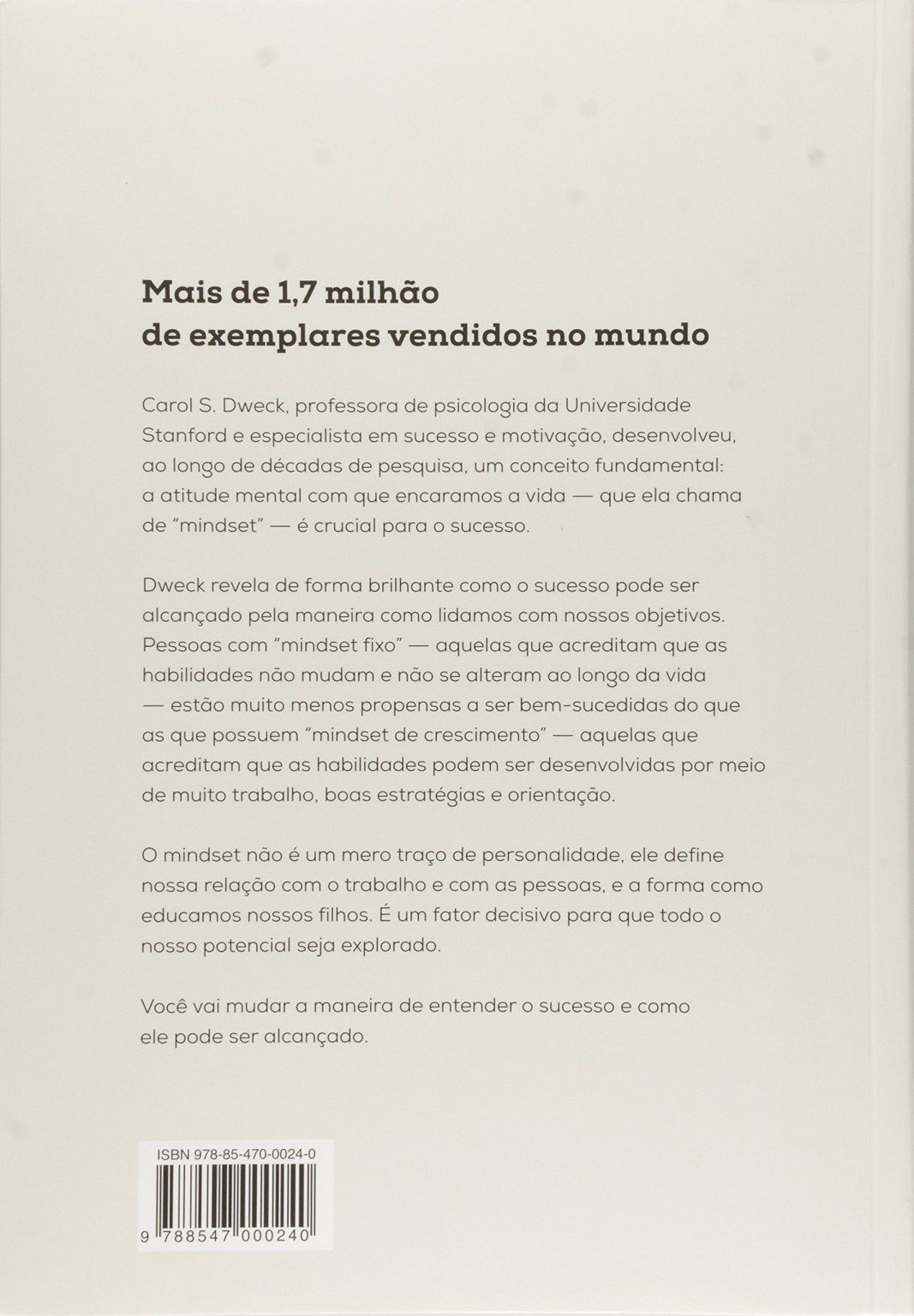 Mindset - A Nova Psicologia do Sucesso - Carol Dweck