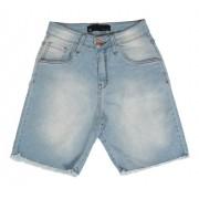 Bermuda Jeans Feminina Meia Coxa Azul
