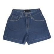 Bermuda Jeans Feminina Meia Coxa Azul Escuro