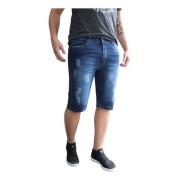Bermuda Masculina Jeans Azul Skinny