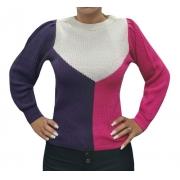 Blusa Tricot Trico Colorido