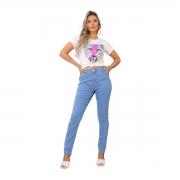 Calça Jeans Mom Feminina Azul Clara