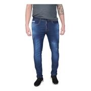 Calça Masculina Jeans Azul Escuro Lycra Skinny