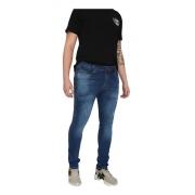 Calça Masculina Jeans Azul Lycra Skinny