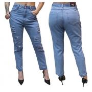 Calça Mom Jeans Feminina Vintage