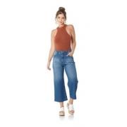 Calça Pantacourt Jeans Feminina