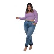Calças Jeans Moda Plus Size Feminina Clochard