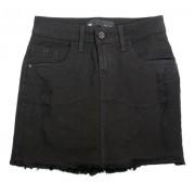 Mini Saia Jeans Preta Black Basico Tendência