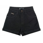 Shorts Feminino Preta Black Jeans