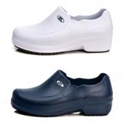Kit 2 Pares Sapato Profissional Soft Works Antiderrapante Com CA - Branco + Azul Marinho - BB65