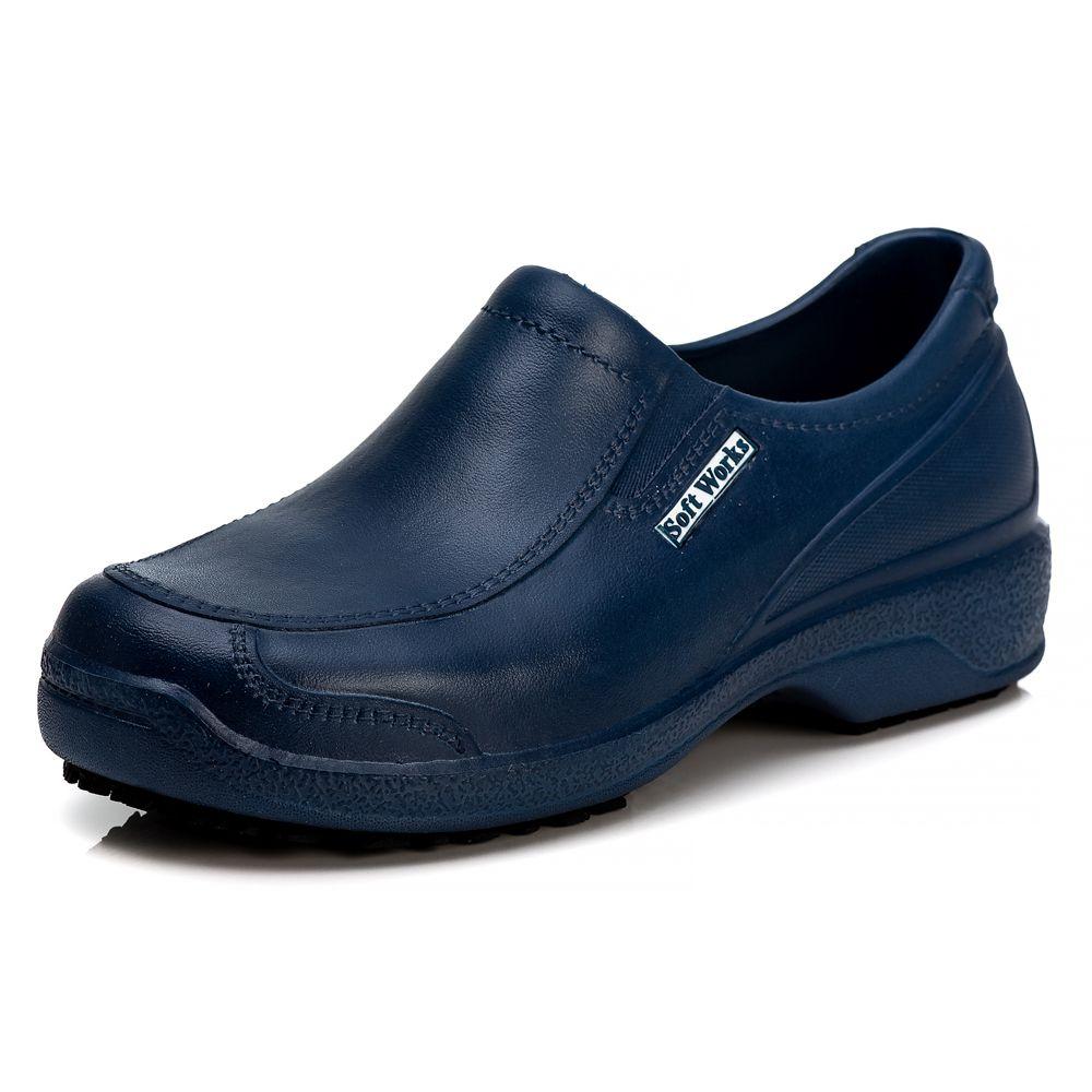 Sapato Soft Works Antiderrapante Com CA - Azul Marinho BB67