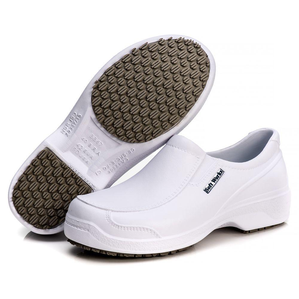 Sapato Soft Works Antiderrapante Com CA - Branco BB67