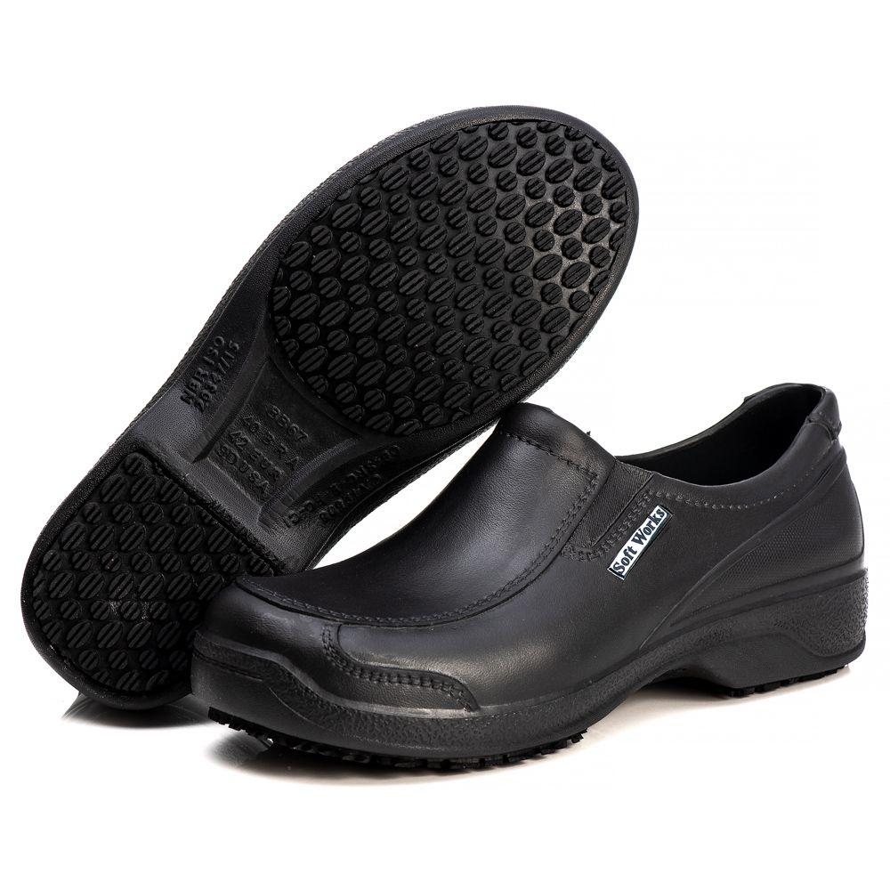 Sapato Soft Works Antiderrapante Com CA - Preto BB67