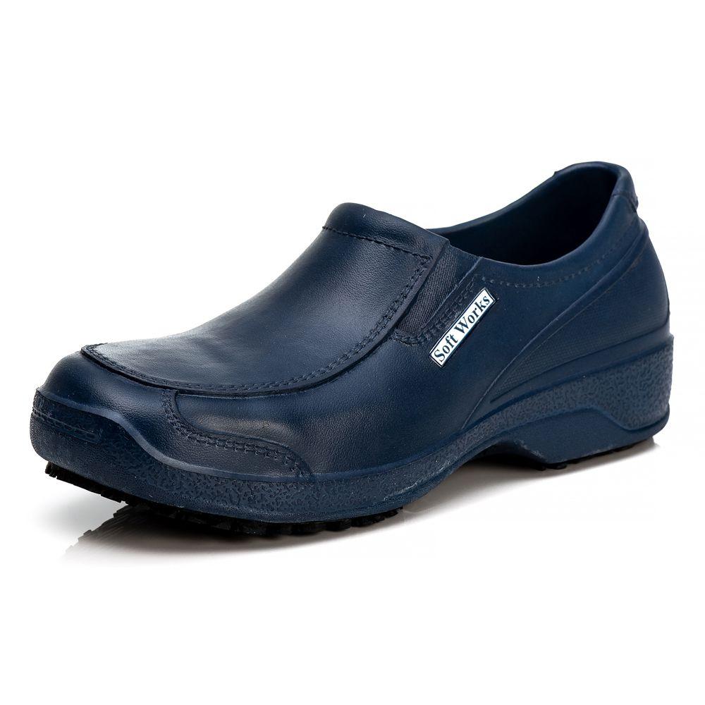 Sapato Antiderrapante Soft Works Com Biqueira Em Composite - Azul Marinho BB66
