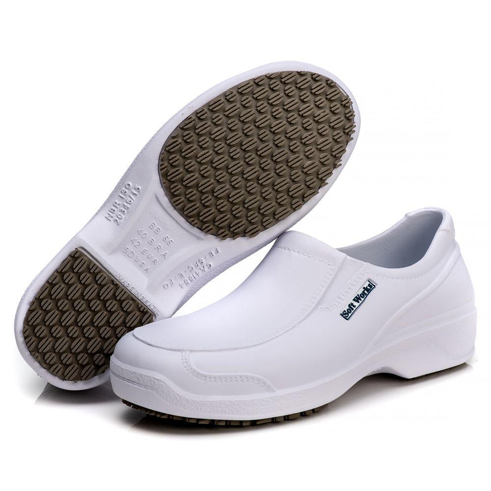 Sapato Antiderrapante Soft Works Com Biqueira Em Composite - Branco BB66