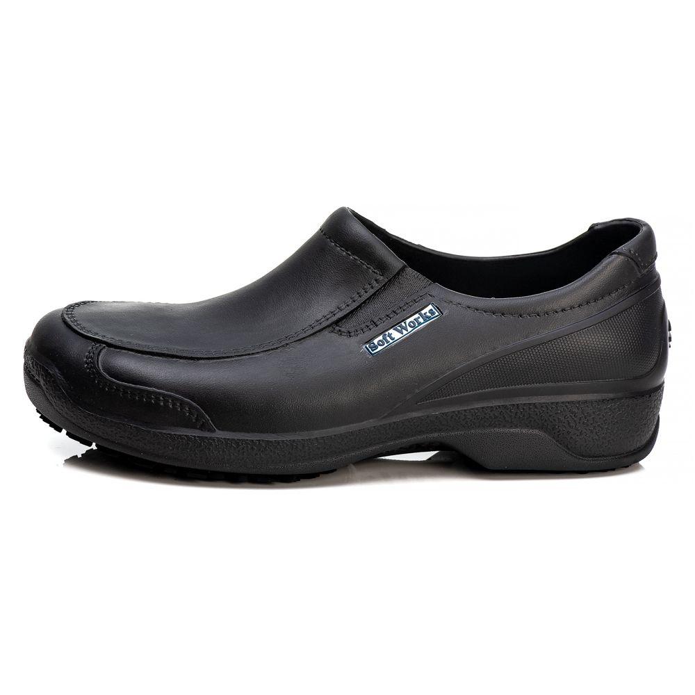 Sapato Antiderrapante Soft Works Com Biqueira Em Composite - Preto BB66