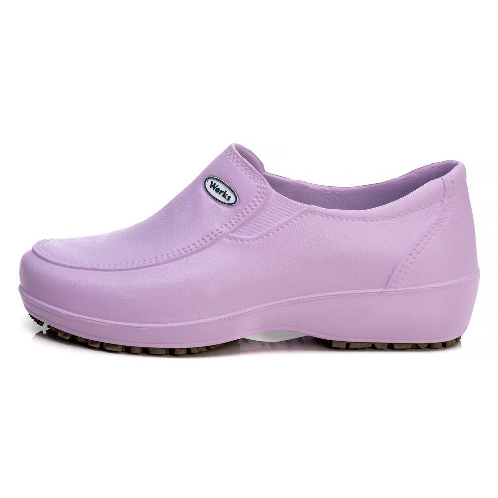 Sapato Soft Works Profissional Antiderrapante Com CA - Ameixa BB95