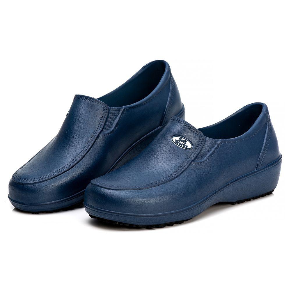 Sapato Soft Works Profissional Antiderrapante Com CA - Azul Marinho BB95