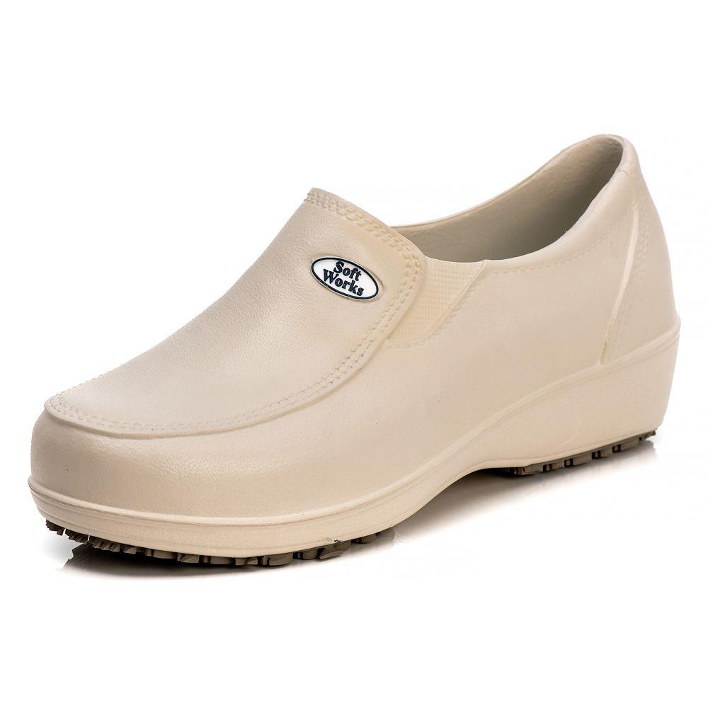 Sapato Soft Works Profissional Antiderrapante Com CA - Bege BB95