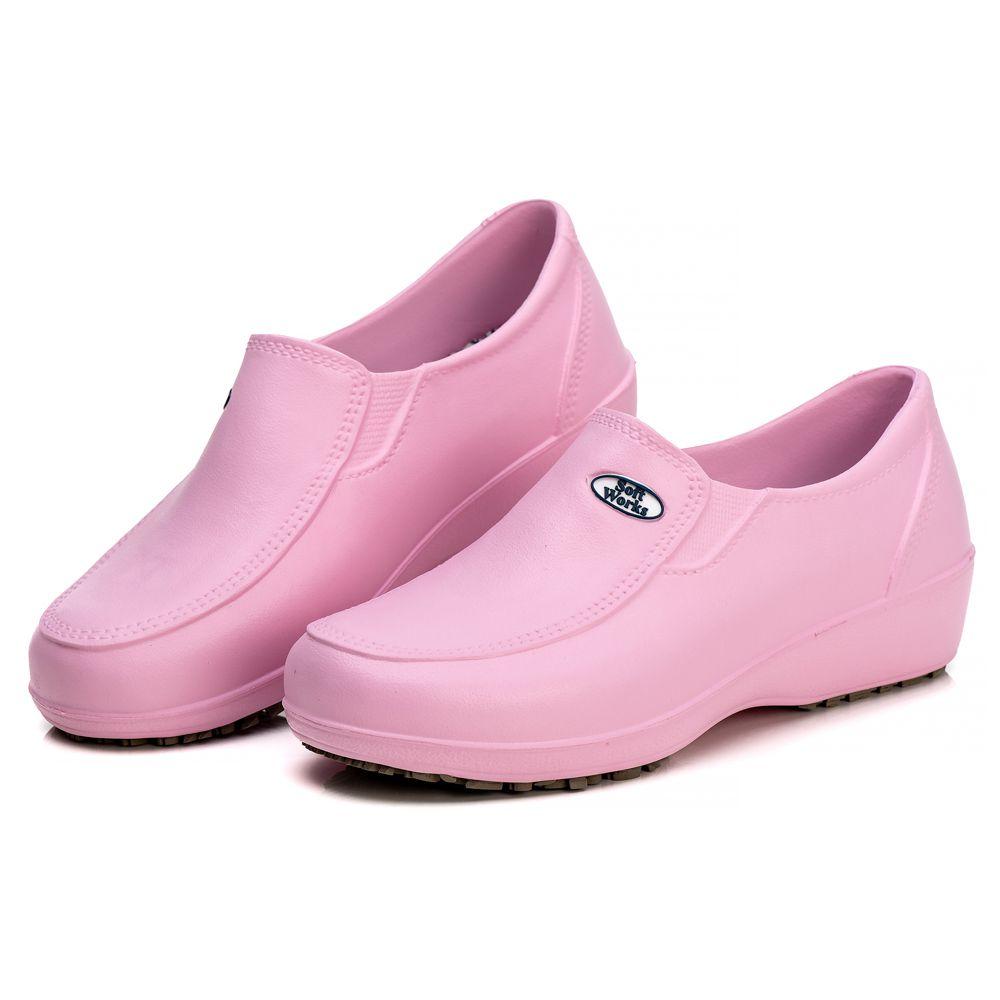 Sapato Soft Works Profissional Antiderrapante Com CA - Rosa BB95