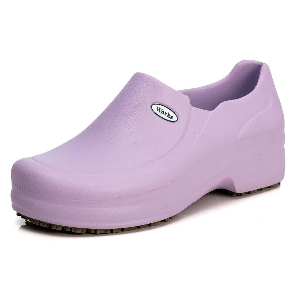 Sapato Profissional Soft Works Antiderrapante Com CA - Ameixa BB65
