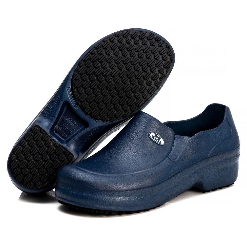 Sapato Profissional Soft Works Antiderrapante Com CA - Azul Marinho BB65