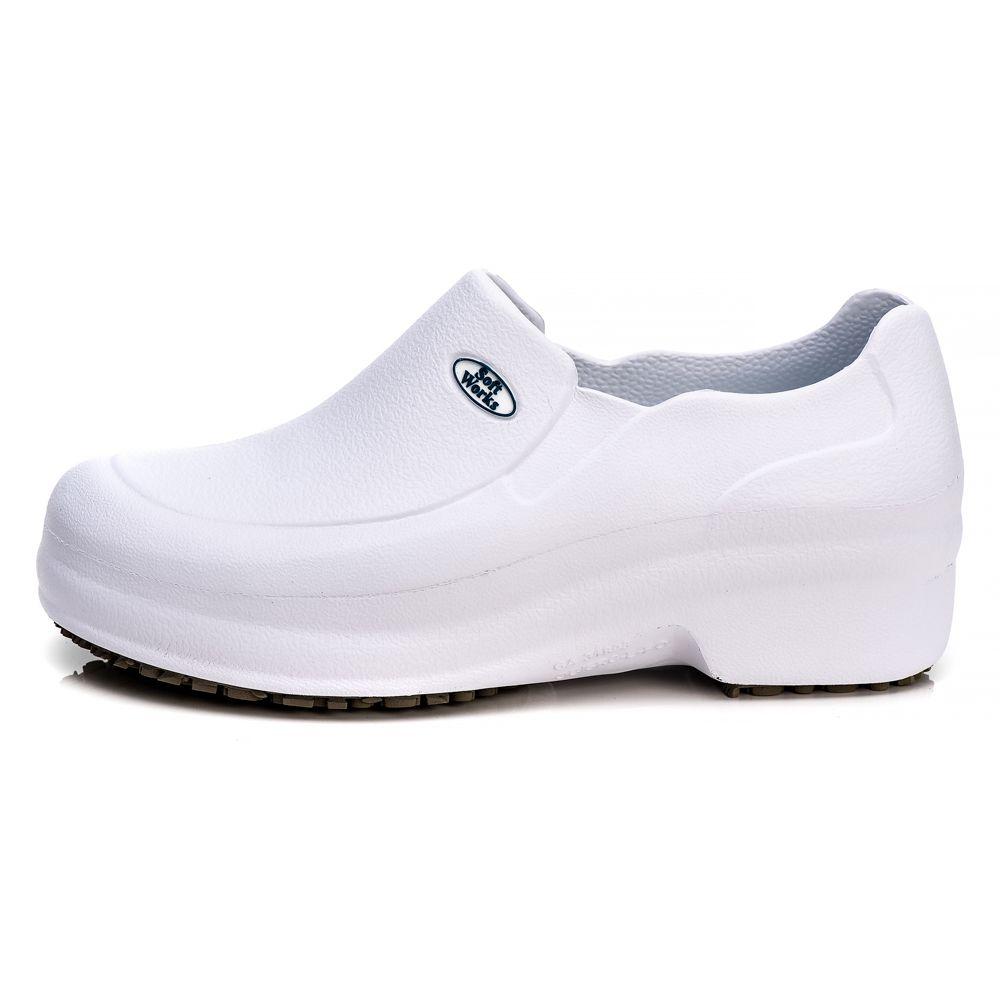 Sapato Profissional Soft Works Antiderrapante Com CA - Branco BB65