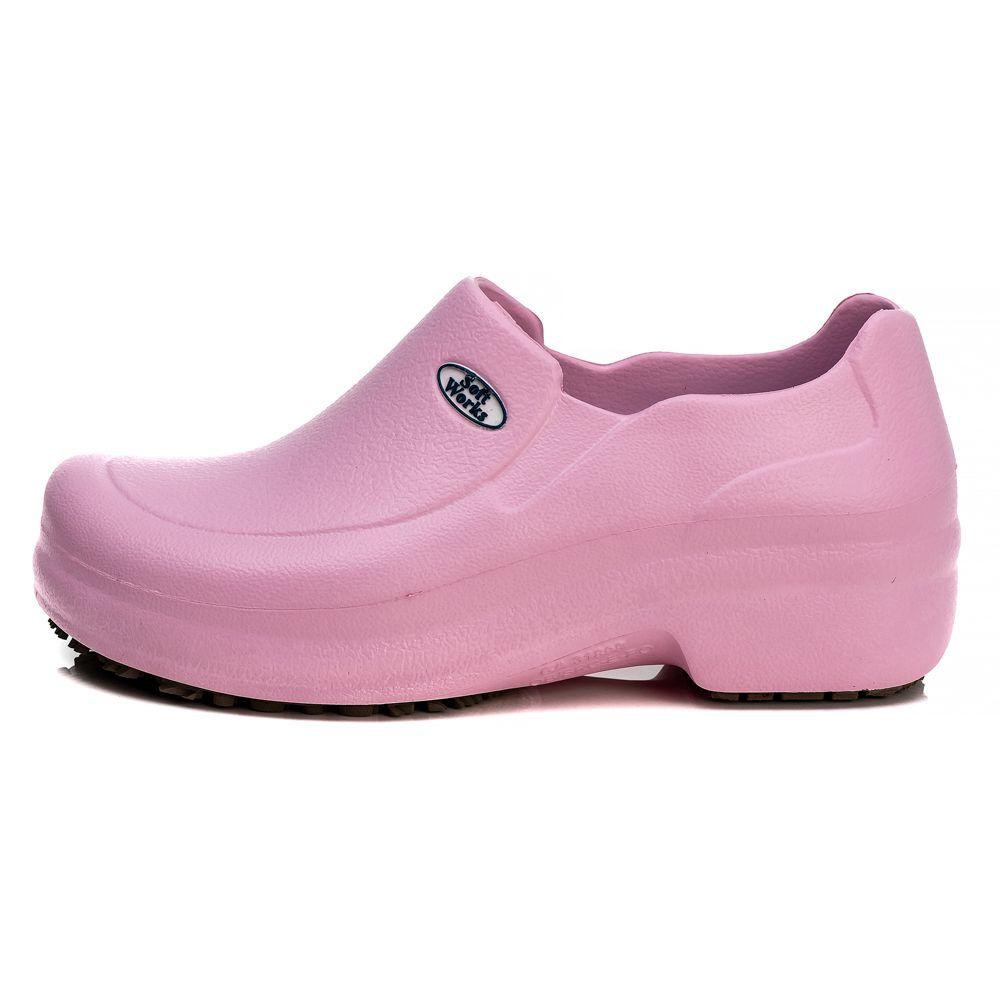 Sapato Profissional Soft Works Antiderrapante Com CA - Rosa BB65