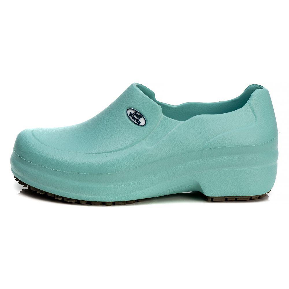 Sapato Profissional Soft Works Antiderrapante Com CA - Verde Medicina BB65