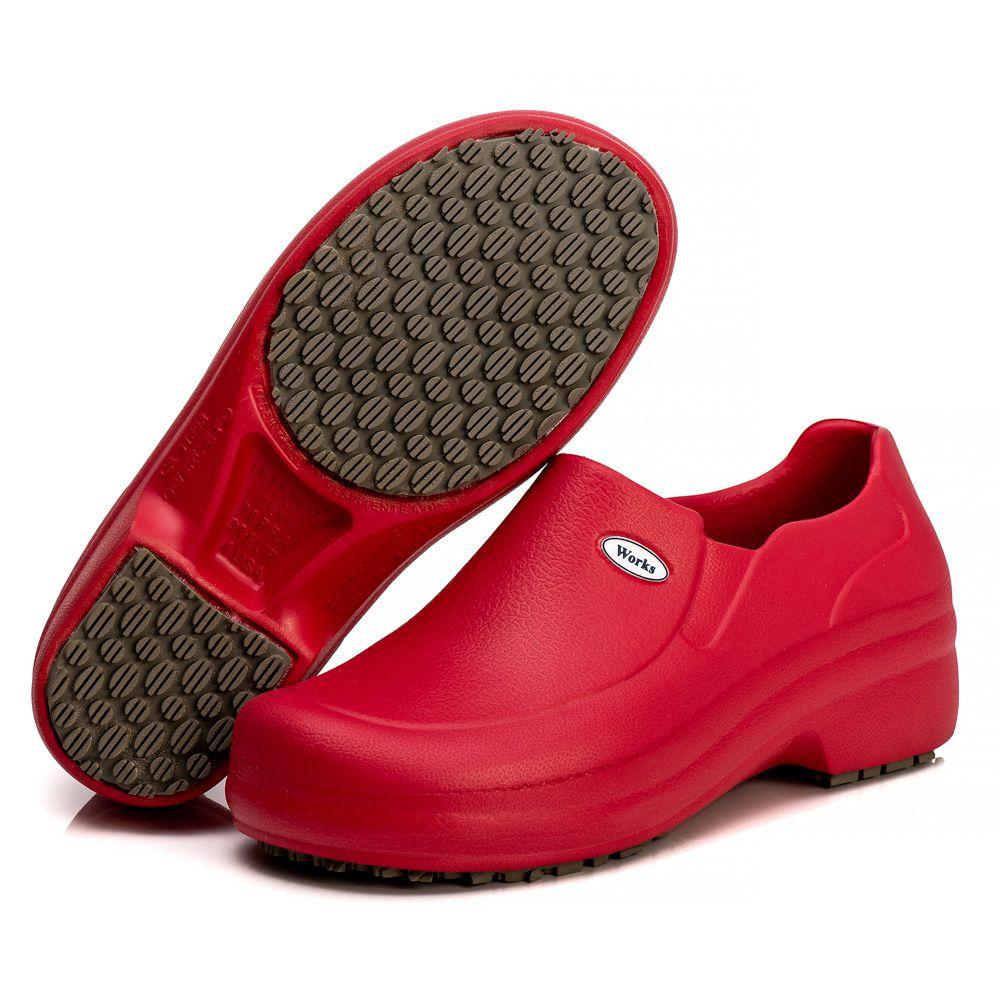 Sapato Profissional Soft Works Antiderrapante Com CA - Vermelho BB65