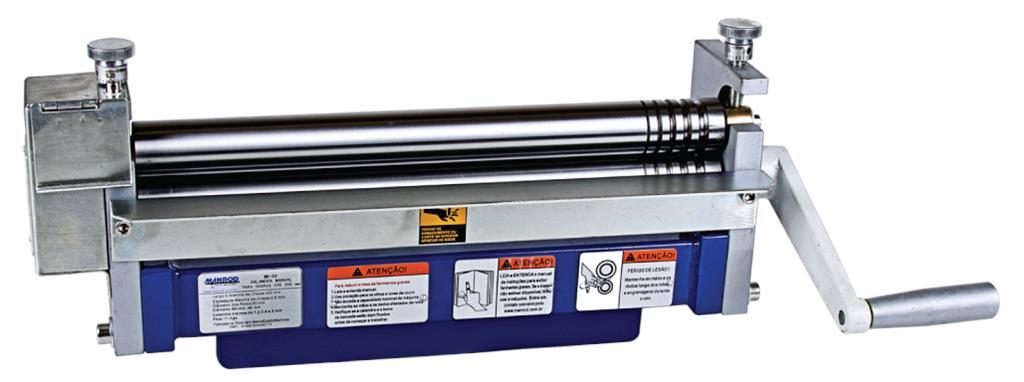 Calandra Manual para Chapas e Arames Hobby 300MM MR-33 - Manrod