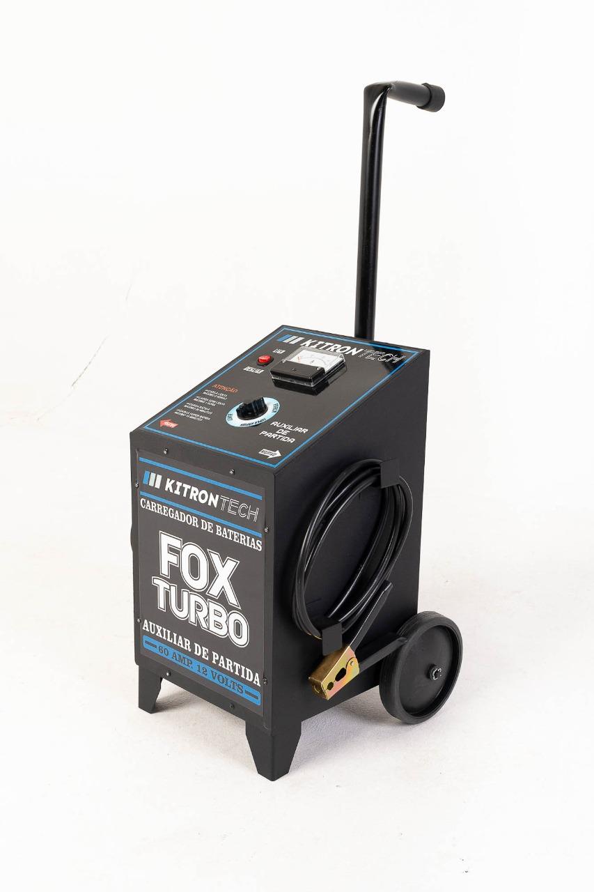 Carregador de Bateria Fox Turbo 60A 12V Bivolt - Kitron Tech