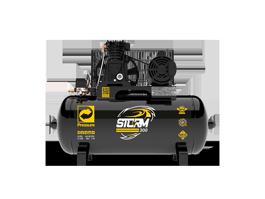 Compressor de Ar 10pcm/100L 2cv Monofásico STORM 300 - PRESSURE