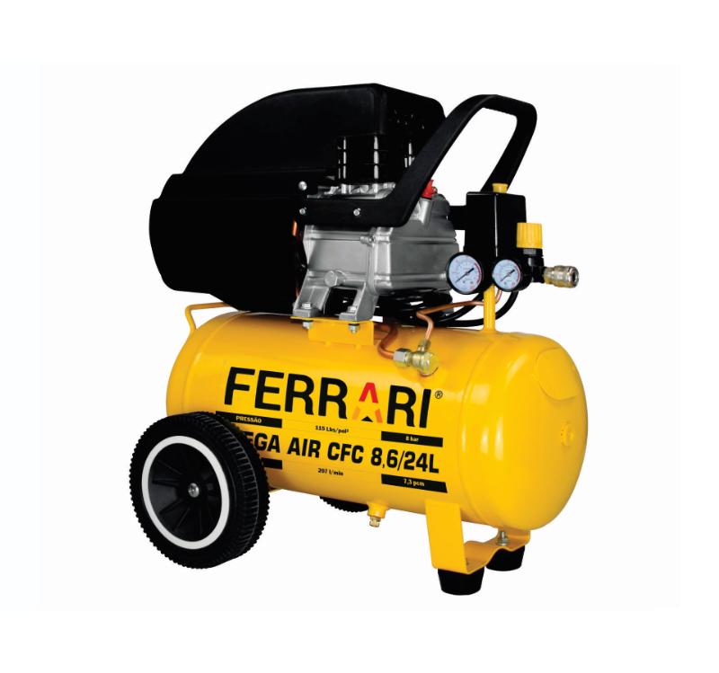 Compressor de Ar 115lbs 2HP 220V CFC 8,6/24L - Ferrari