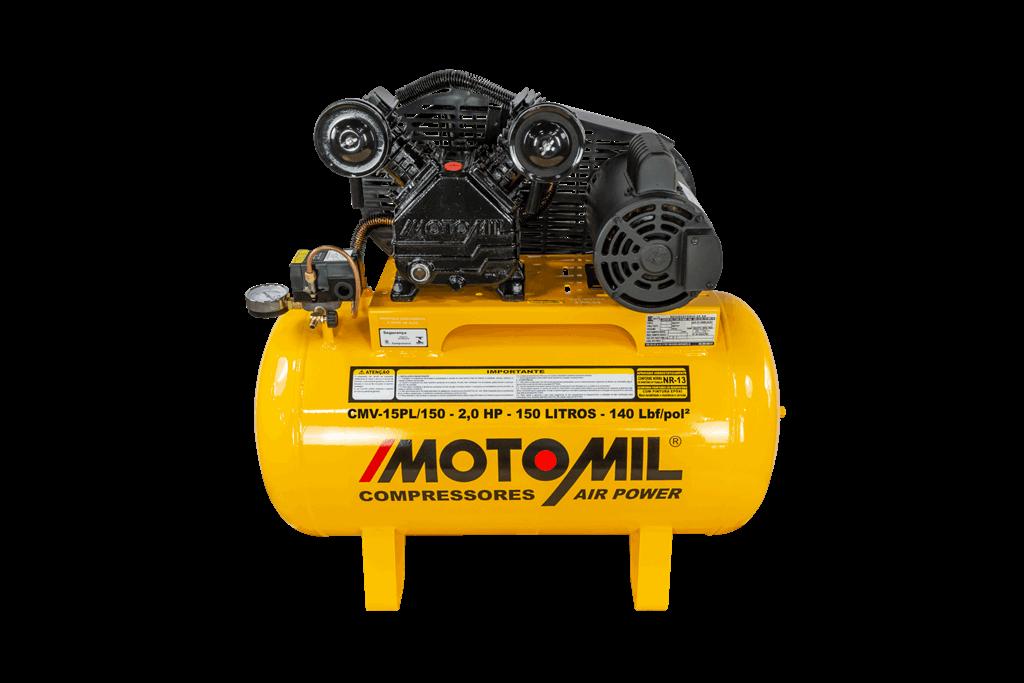 Compressor de Ar 140lbs 2HP 127/220V CMV-15PL/150A - Motomil
