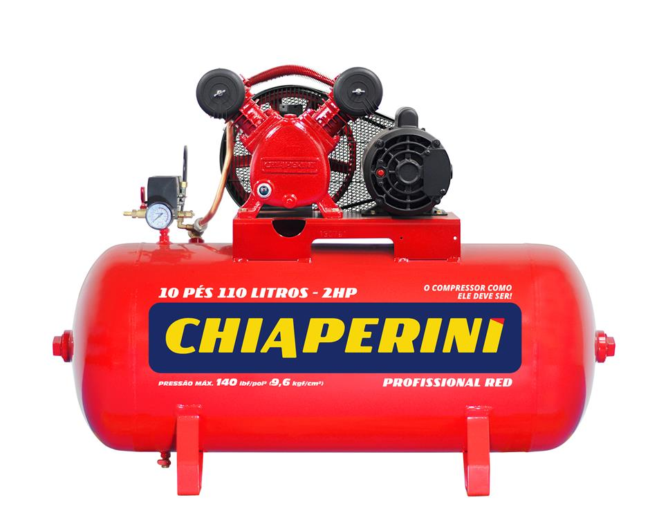 Compressor de Ar 10pcm/110L IP21 10/110 RED - Chiaperini
